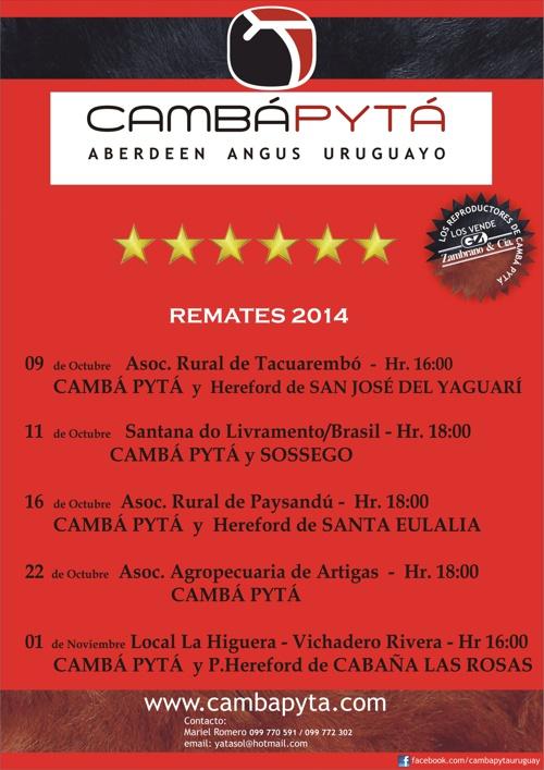 Cambá Pytá - Catálogo Tacuarembó 2014