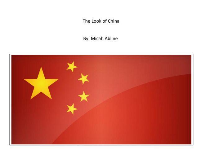 Micah: China