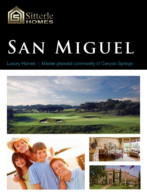 Sitterle Homes San Miguel Brochure