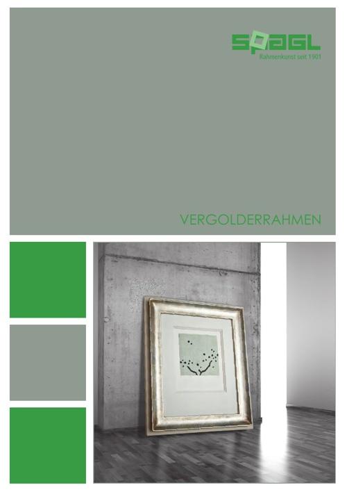 SPAGL Vergolderrahmen Katalog 2012