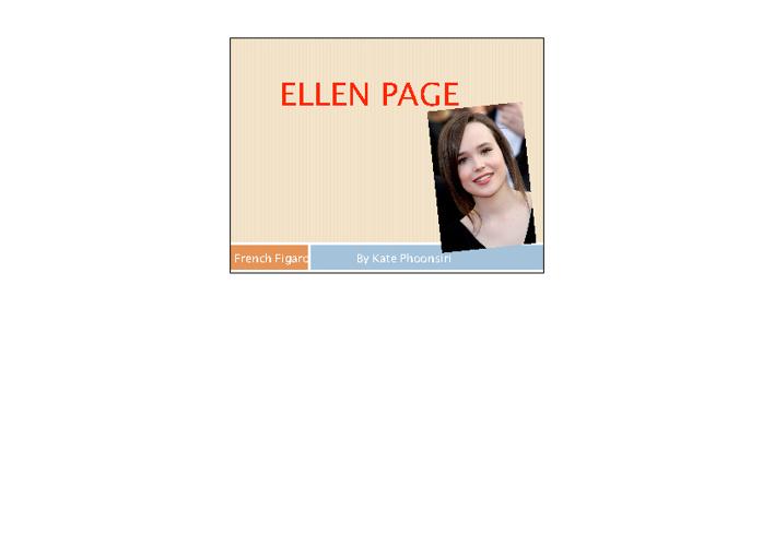 Ellen Page Figaro Kate