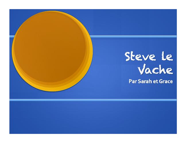 Steve la Vache