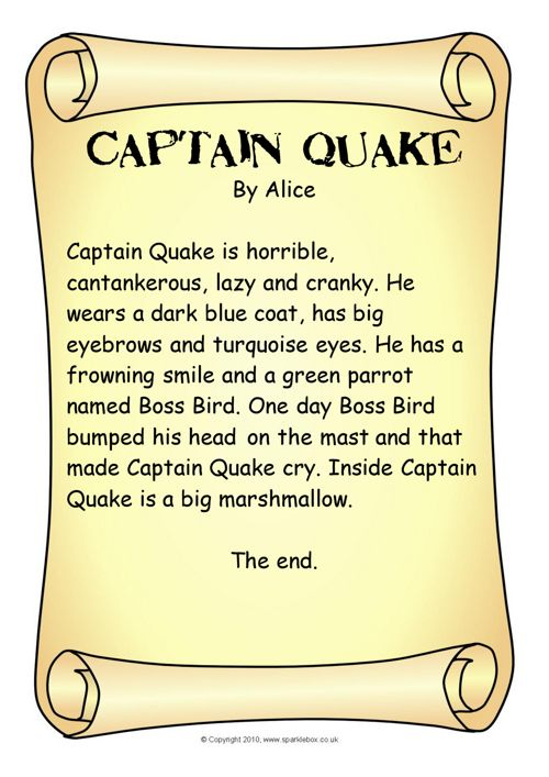 Captain Quake Descriptions Book 1