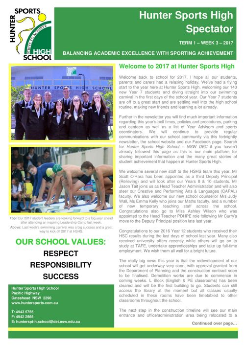 Term 1 Week 3 Newsletter