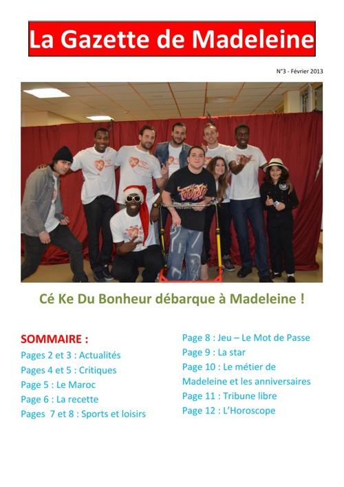La Gazette Février 2013