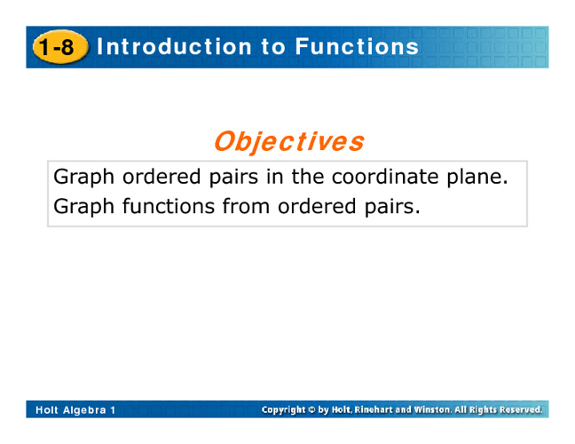 Intro to Functions Notes