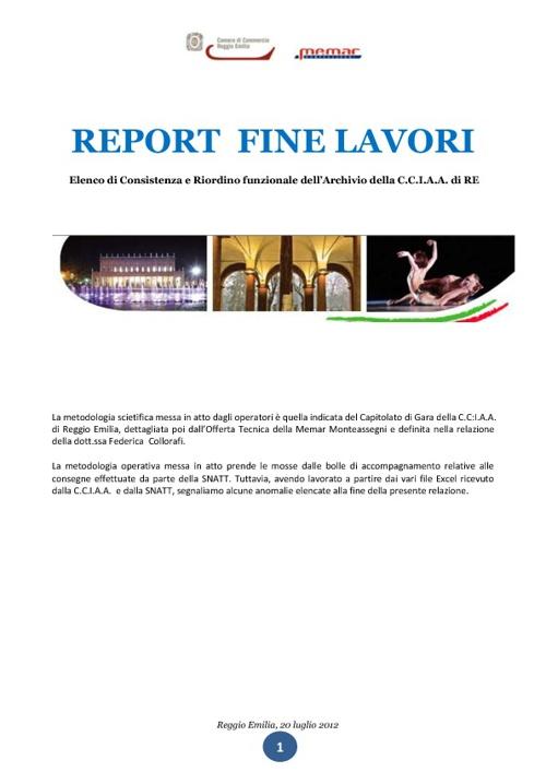 Report fine lavori