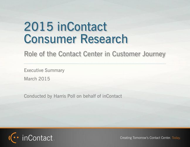 inContact Consumer Research Summary Mar-15
