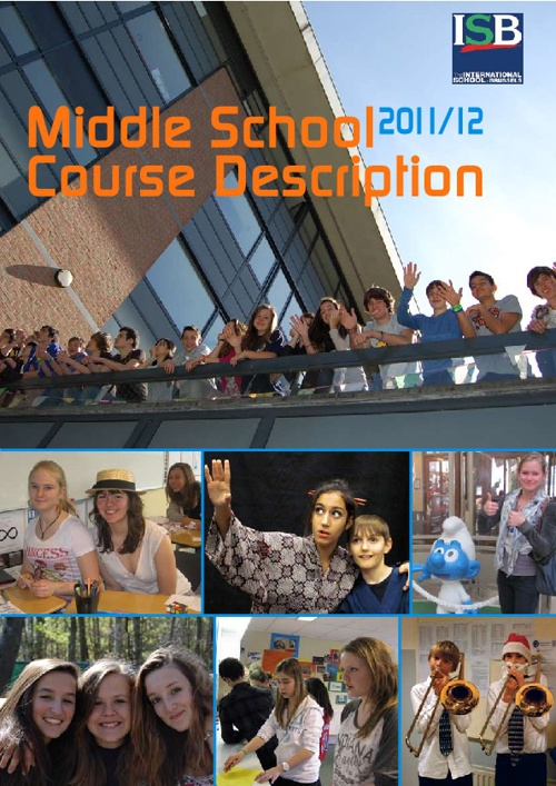 Middle School Course Descriptions 2011-2012