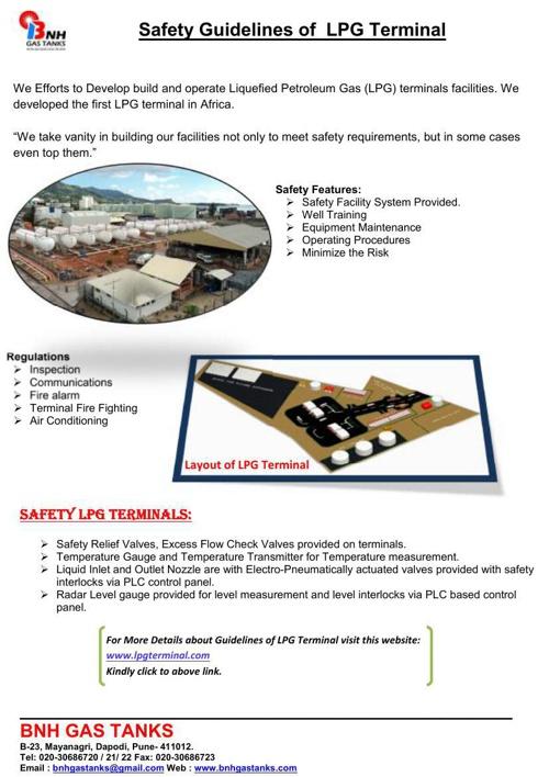 LPG Terminal.......Safety Guidelines of  LPG Terminal