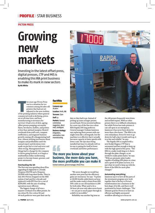 ProPrint April 2015 - Star Business Picton