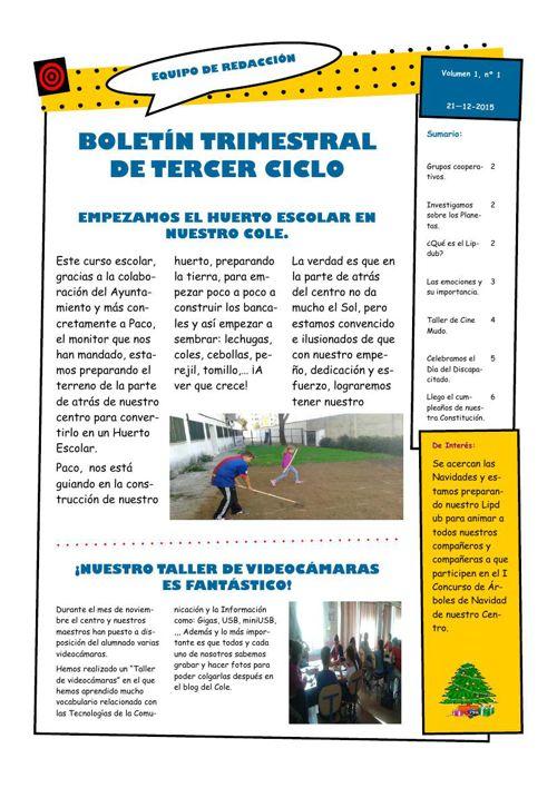 BOLETIN TERCER CICLO