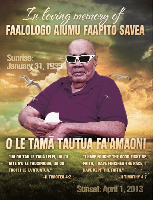 Fa'alologo - We love you Dad...