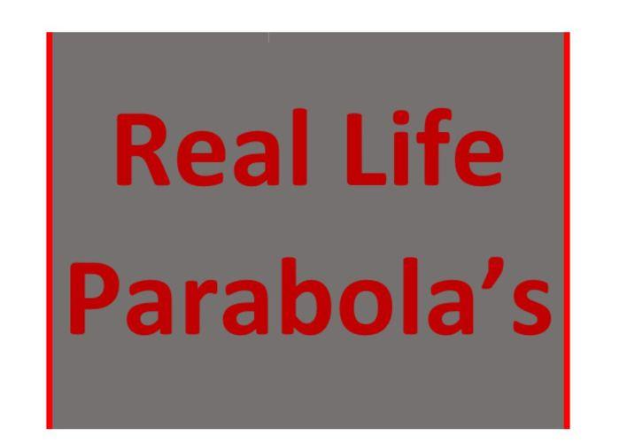 Real Life Parabola's