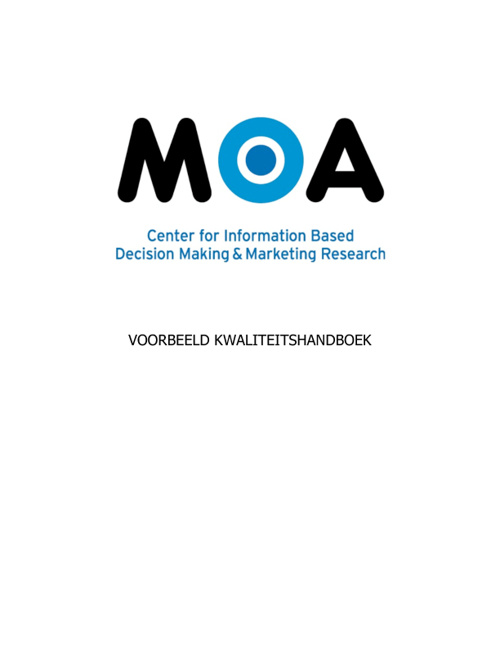 Impressie kwaliteitshandboek ISO 9001