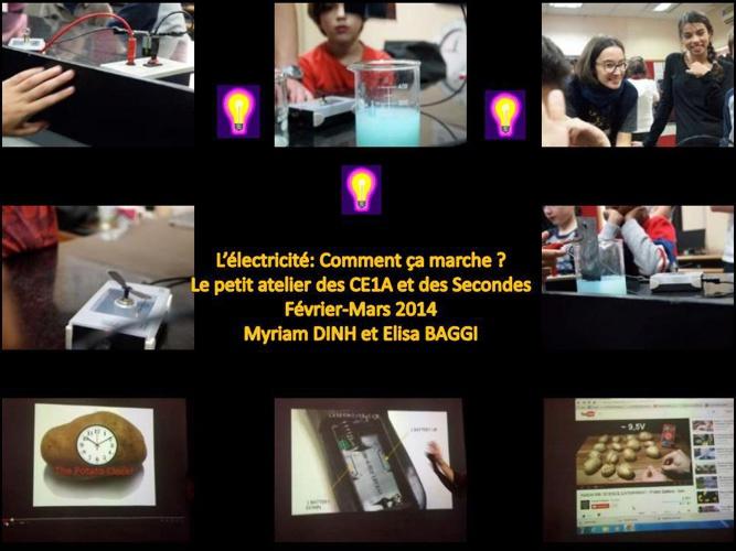 Atelier électricité - CE1A