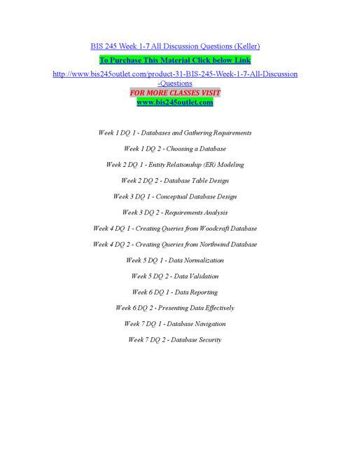 BIS 245 OUTLET Peer Educator/ bis245outlet.com