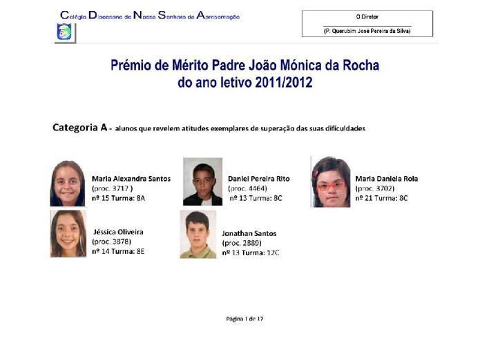 Prémios de Mérito 2012