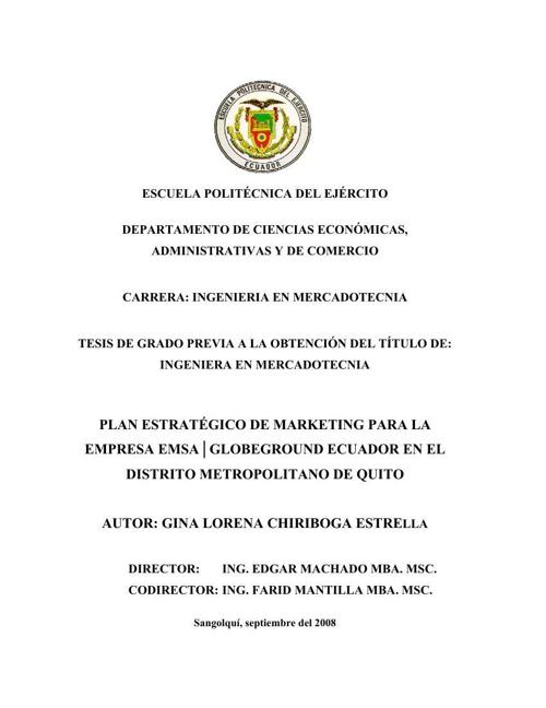 PLAN DE MARKETING EMPRESA AEREOPUERTO