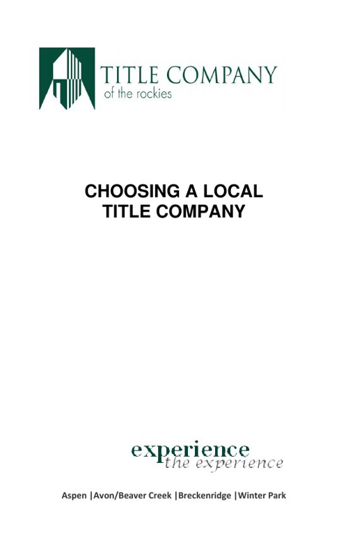 About Title Company of the Rockies