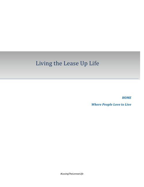 Copy of Living the Lease Up Life