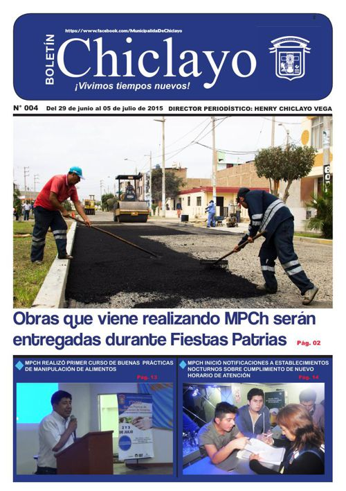 "BOLETIN ""Chiclayo"" - N° 004"