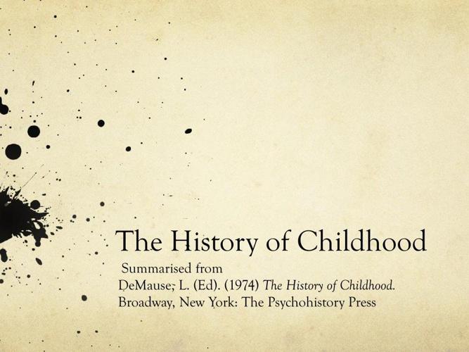 History of Childhood