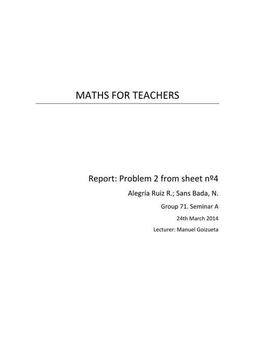 Report maths