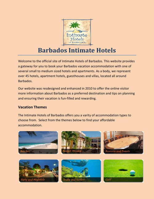 Barbados Intimate Hotels