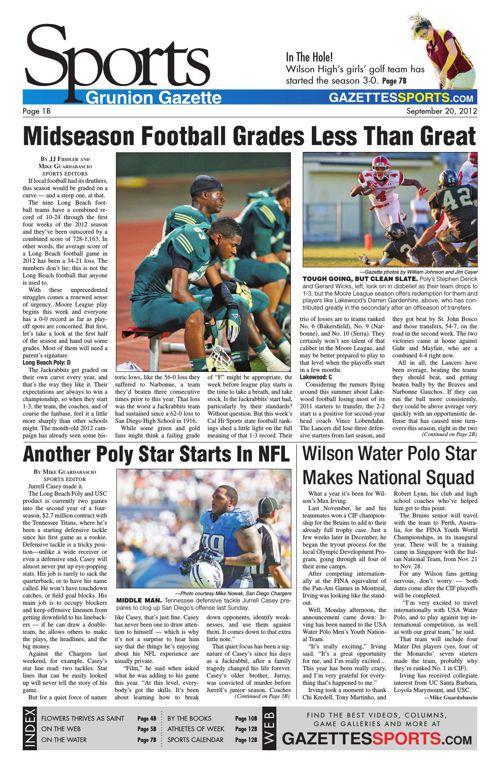 Gazette Sports | September 20, 2012
