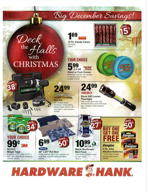 Shelby Paint and Hardware - December Flyer