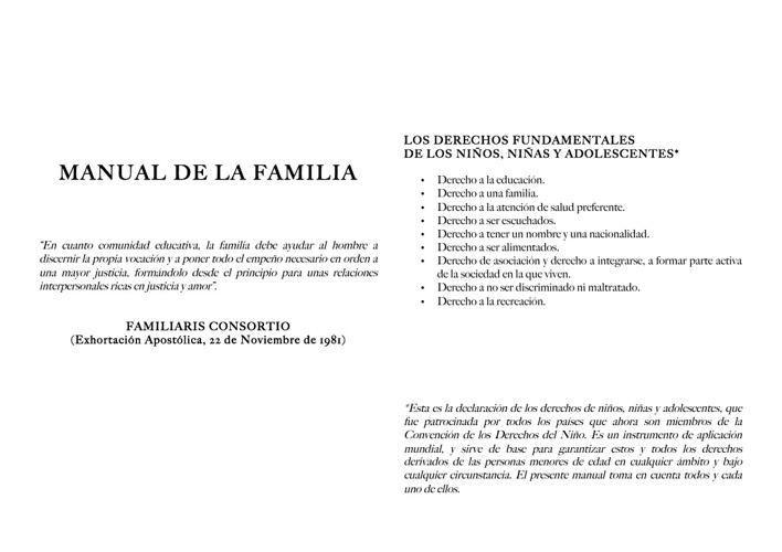MANUAL DE FAMILIA 2013