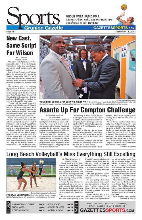 Gazette Sports   September 18, 2014