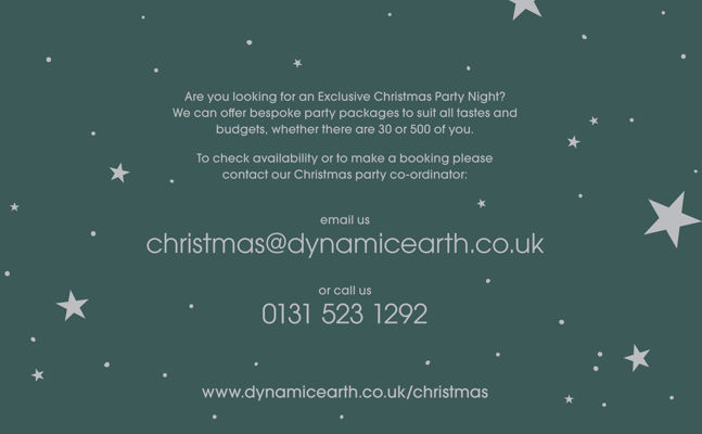Dynamic Earth Christmas Party Nights
