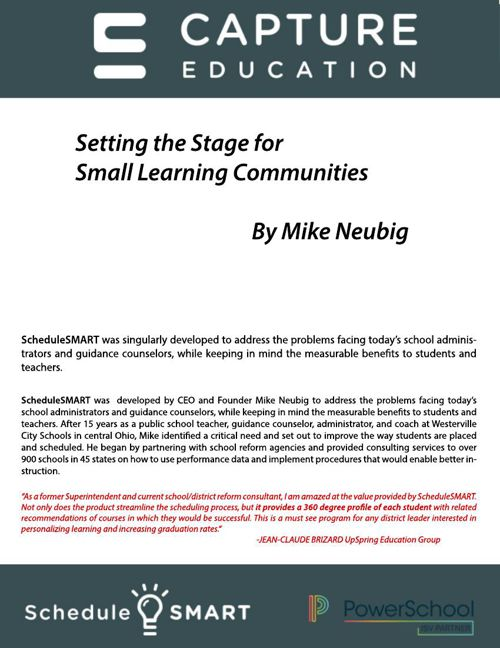Guide to Setting the Stage for Small Learning Communities