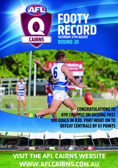 AFL Cairns Footy Record Round 20 2016
