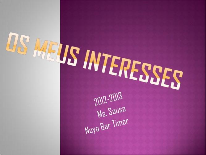 Os meus interesses - Noya