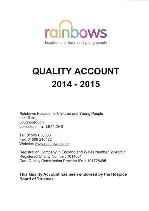 Quality-Account-2014-15-Rainbows-Hospice