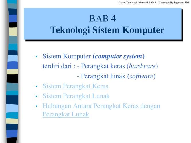 Teknologi Sistem Komputer