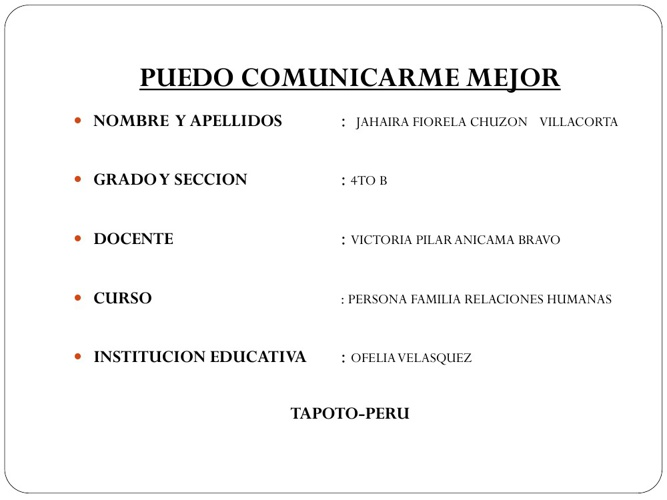 PUEDO COMUNICARME MEJOR