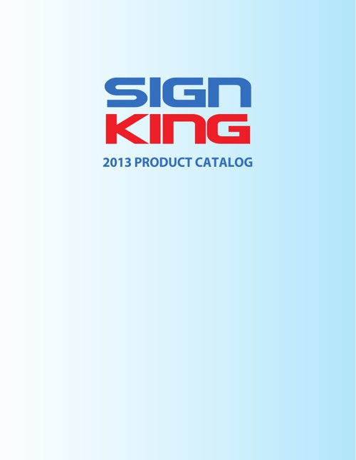 Sign King 2013 Catalog