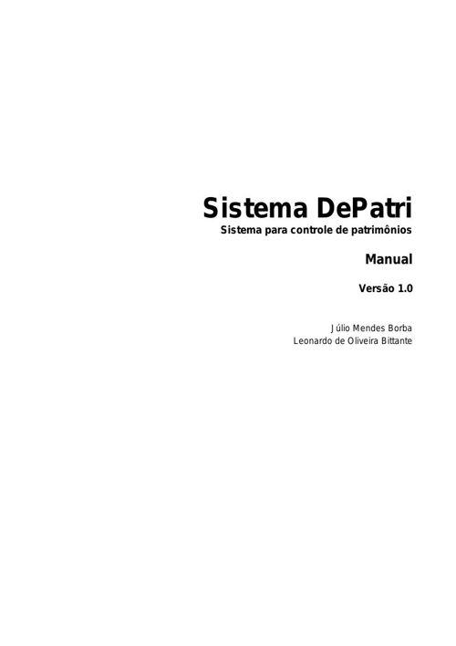Manual DePatri - Júlio Mendes e Leonardo