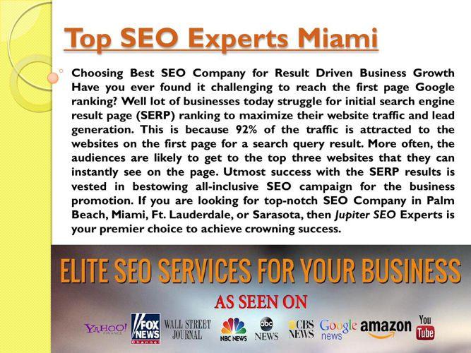 Top SEO Experts Miami