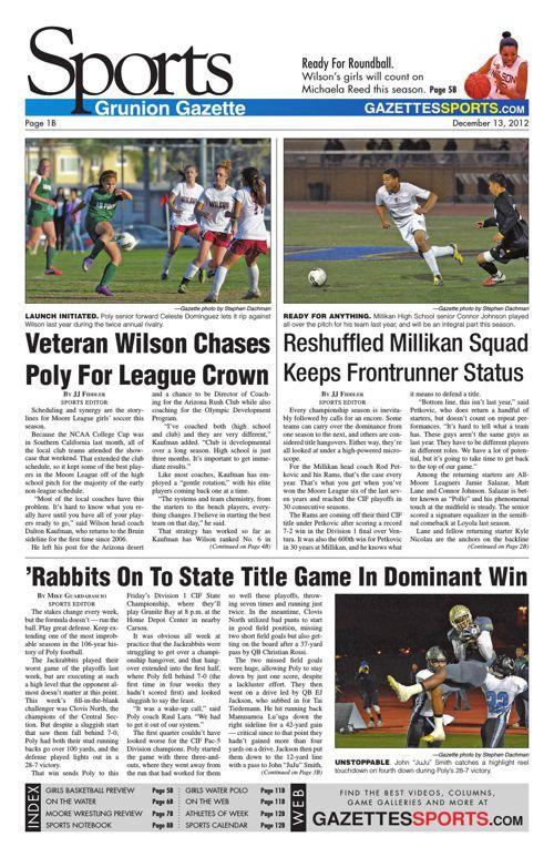 Gazette Sports   December 13, 2012