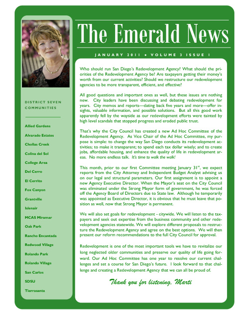 The Emerald News: Volume 3, Issue 1 (January 2011)