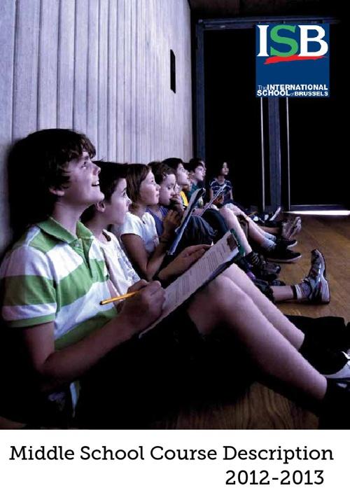 Middle School Course Description Booklet 2012-2013