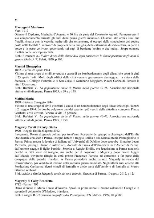 Dizionario parmigiane M-Z