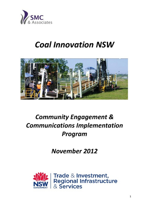 Coal Innovation NSW Presentation Flip Book