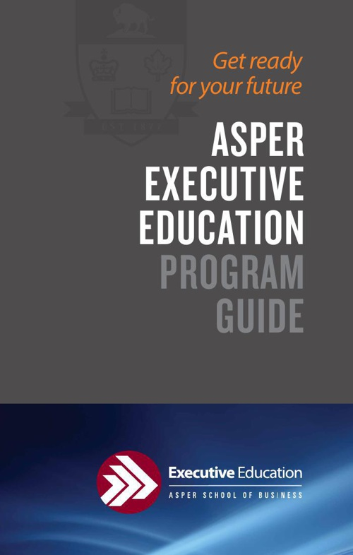 Asper Executive Education 2014-2015 Program Guide