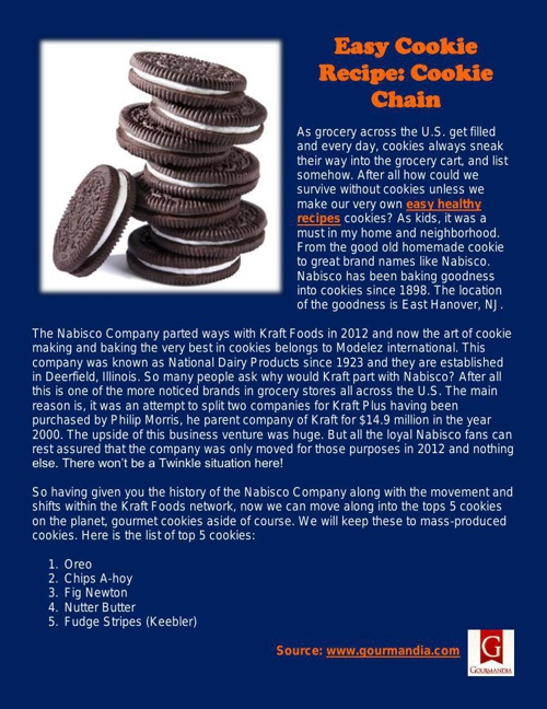 Easy Cookie Recipe: Cookie Chain